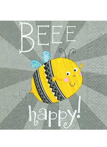 Bee Happy Peçete-Dünya Style